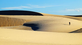 Amazing sand hill to adventure travel for summer trip Royalty Free Stock Photos