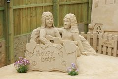 Amazing sand sculpture Royalty Free Stock Images
