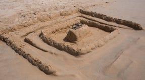 Amazing sandy castle Stock Photography