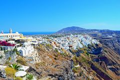 Amazing Santorini island skyline Greece Royalty Free Stock Images