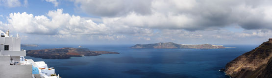 Amazing Santorini - panoramic view Royalty Free Stock Photos