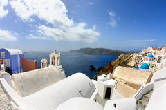 Amazing Santorini - panoramic view Royalty Free Stock Photo