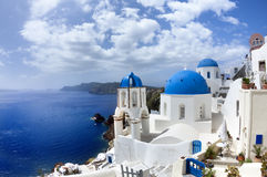 Amazing Santorini - panoramic view Stock Image