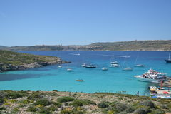 Amazing scene of the Blue Lagoon in Malta Stock Image