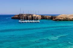 Amazing scenery in Ano Koufonisi island, Cyclades, Greece Stock Image