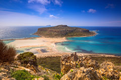 Amazing scenery of Balos beach on Crete Royalty Free Stock Images