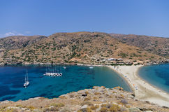 Amazing scenery at Kolona, Kythnos island, Cyclades, Greece Royalty Free Stock Images