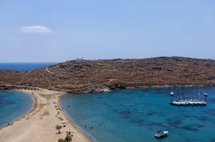 Amazing scenery at Kolona, Kythnos island, Cyclades, Greece Stock Photos