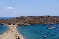 Amazing scenery at Kolona, Kythnos island, Cyclades, Greece. Amazing scenery at Kolona, Kythnos island, Cyclades stock photos