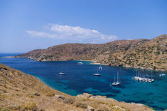 Amazing scenery at Kolona, Kythnos island, Cyclades, Greece Royalty Free Stock Photo