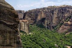 Amazing scenery in Meteora, Greece Stock Images