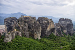 Amazing scenery in Meteora, Greece Stock Images
