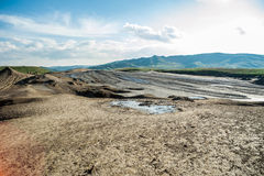 Amazing scenery at Muddy Volcanoes Romania Stock Photos