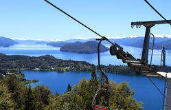 View from the Cable Car. Amazing scenery seen from a cable car in Patagonia, South America Royalty Free Stock Image
