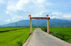 Amazing scenery, Vietnamese hamlet gate Royalty Free Stock Photos
