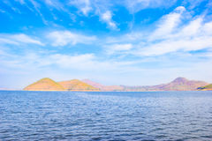 Amazing scenery view of Srinakarin dam in Kanchanaburi, Thailand Stock Image
