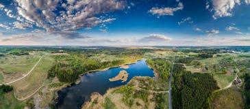 Amazing scenic aerial landscape panorama stock image