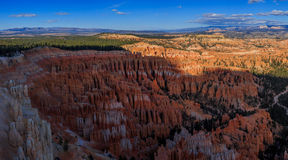 Amazing scenic view of the hoodoos in Bryce Canyon National Park Royalty Free Stock Images