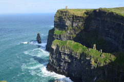 Amazing Scenic Views of the Cliff`s of Moher in Ireland Stock Photography