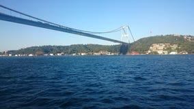 Amazing scenics of Bosphorus bridge and Istanbul city, Turkey. stock photography