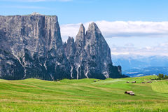 Amazing Sciliar mountains Stock Photography