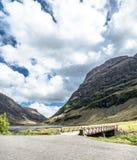 Amazing Scottish Landscape At Achnambeithach In Glencoe, Scottish Highlands Stock Images