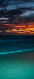 Amazing sea beach sunset. With beautful bright colours. Good for wallpaper or background image royalty free stock image