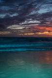 Amazing sea beach sunset. With beautful bright colours. Good for wallpaper or background image royalty free stock photo