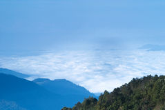Amazing sea of fog in Thailand Royalty Free Stock Photo