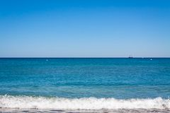Amazing sea shore bay blue coast background Stock Image
