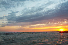 Amazing sea sunset against beautiful sky Royalty Free Stock Images