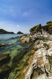 Amazing sea view of Kapas Island and it unique rock structure, located in Terengganu Malaysia Stock Photography