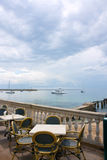 Amazing sea view at restaurant. In palma majorca Royalty Free Stock Photography
