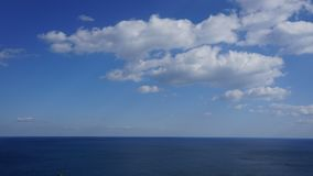 Amazing sea-view with white cloud and clear sky. Amazing sea-view with white cloud and super clear sky royalty free stock image