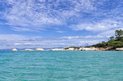 Amazing sea water in Chalkidiki, Greece Royalty Free Stock Photos