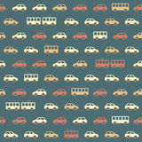 Amazing seamless blue vintage car pattern Royalty Free Stock Image