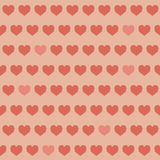Amazing seamless colorful geometric heart pattern Stock Images
