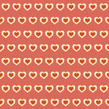 Amazing seamless colorful geometric heart pattern Royalty Free Stock Photography