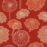 Amazing seamless floral vintage japanese red pattern Royalty Free Stock Photo