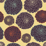 Amazing seamless floral vintage japanese spring night pattern Stock Images