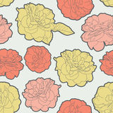 Amazing seamless floral vintage japanese spring rose pattern Royalty Free Stock Image