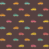 Amazing seamless vintage car pattern Royalty Free Stock Photos