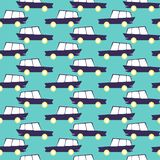 Amazing seamless vintage car pattern.Vector seamless pattern with cars.Baby pattern. vector illustration