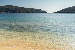 Seascape with Porto Koufo Beach at Sithonia peninsula, Chalkidiki, Central Macedonia, Greece. Amazing seascape with Porto Koufo Beach at Sithonia peninsula stock photo