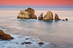 Amazing seascape sunrise Stock Image