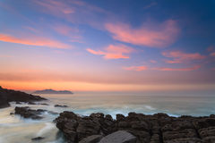 Amazing seascape sunset Royalty Free Stock Image