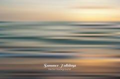 Amazing seascape vector background. Amazing seascape. Vector blured background. Summer holidays Stock Images