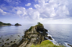 Amazing seascape view from cliff top at Kapas Island, Terengganu, Malaysia. Royalty Free Stock Image