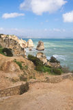 Amazing seascapes in algarve, portugal Stock Image