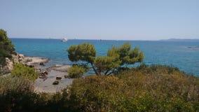 Amazing secret beach in porto heli Stock Photography
